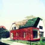 SIMULATION du projet d'extension de maison dans le 67, couleur rouge